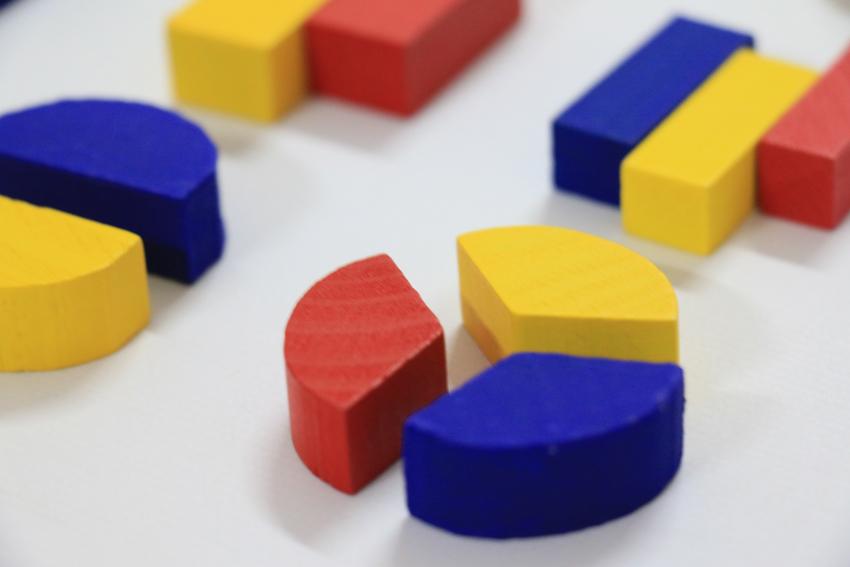 Formas geométricas para fracciones o rompecabezas (Herramientas pedagógicas sustentables)